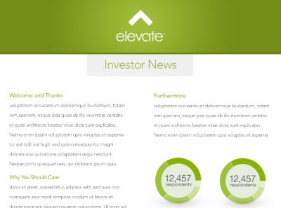 Investor Newsletter clean minimal elevate newsletter pdf graph chart