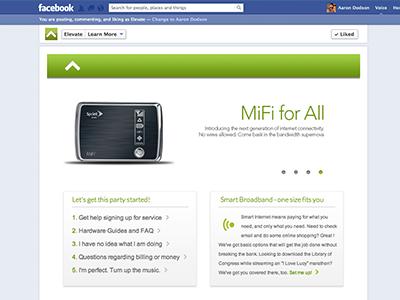 Elevate Facebook App Page facebook app page web design