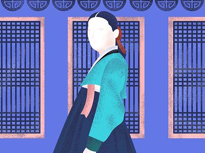 Jang Geum google illustration texture windows dress royals korean physician