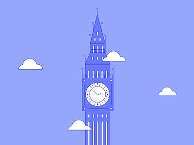 Big Ben illustration vector landmark builsing england big ben