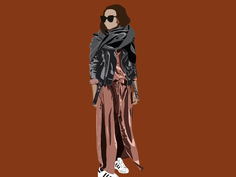Woman 1 street wear fashion illustration
