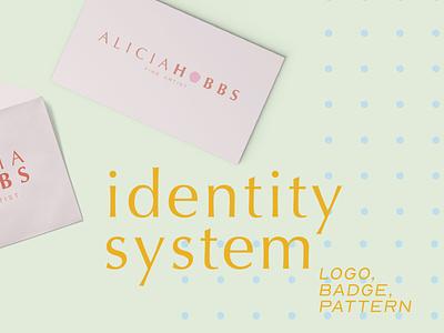Identity System | Alicia Hobbs Fine Art graphicdesign design secondary logo primary logo branding logo designer rebrand identity system branding design identity design pattern badge logo logo design logo