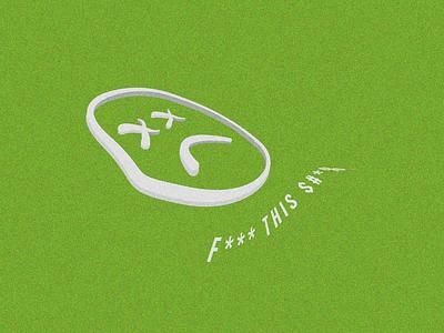 FTS Poster Design smiley face punk typography cartoon illustration vector graphic design design illustration layout grain texture club kid vaporwave synthwave poster design