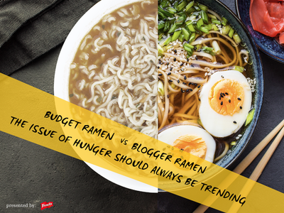 #EndSummerHunger food bank not for profit charity ramen food hunger advertising ad