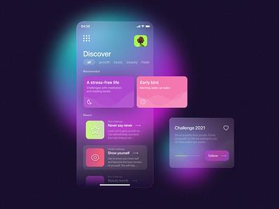 Design of the Task app in glass morphism morphism mobile app design mobile app mobile application app design app glassmorphism illustrator ux design ui ux