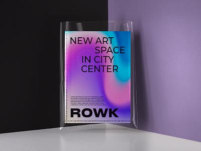 Identity of the ROWK art space program typogaphy magazine identity design identity figma branding brand vector ui design illustration ux