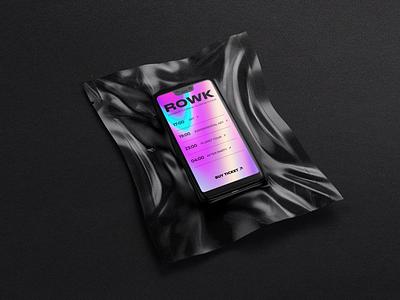 Identity of the ROWK art space art brand identity branding colors ux design mobile app application app design app ux mobile