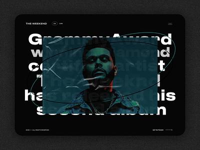 Website for Weekend website design music site webdesign website uiux ui design ui ux
