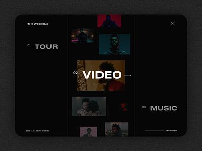 Website for Weekend portfolio site singer artist ui typography illustration ux design design ux