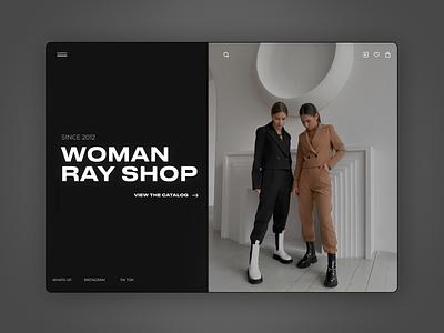 Women's clothing store design clothes store shop typography colors branding design ux design ui ux