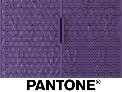Color of years Pantone monkey decor interior violet banana palm animals wood pantone design ahmadova tsaruk