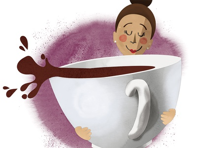 Editorial illustration: Coffee Campus spot illustration coffee