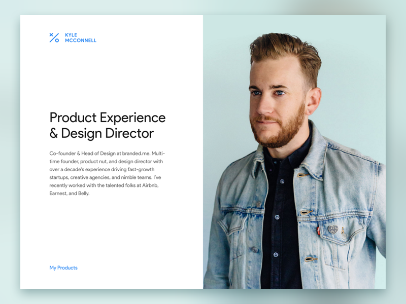 Kylem cc Personal Website by Kyle McConnell on Dribbble