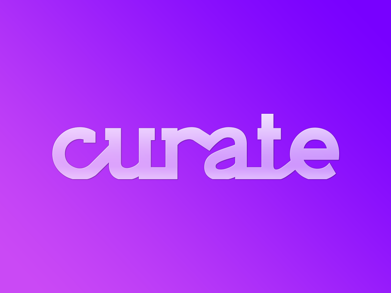 curate.mx logo rails rumble identiy curate music youtube gradient