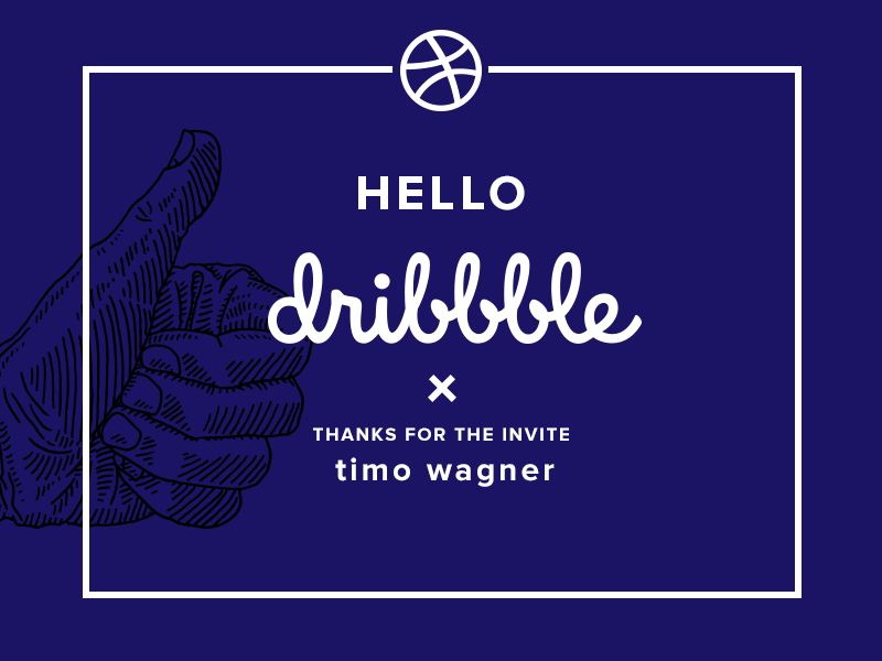 My Dribbble Debut Shot