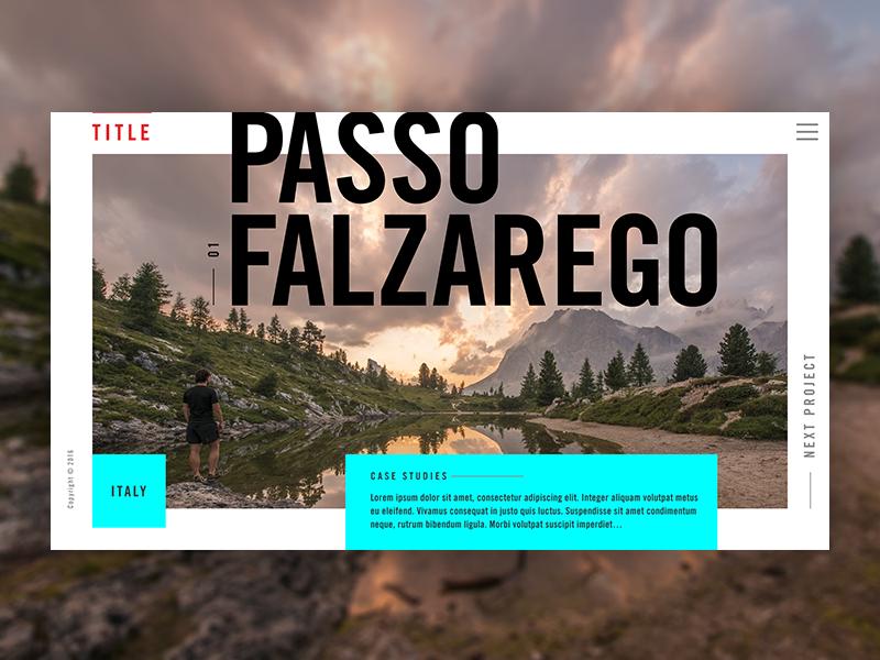 Project Preview – Portfolio Visual Design