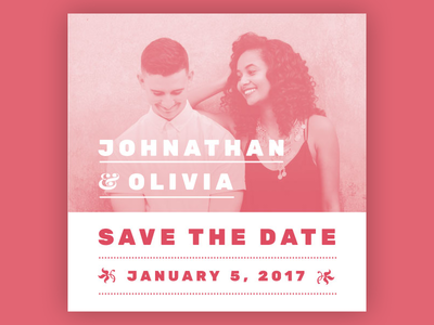 Save the Date Card for Letterpress pms 660 one colour example print letterpress save the date