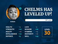 30th Birthday Level Up Graphic