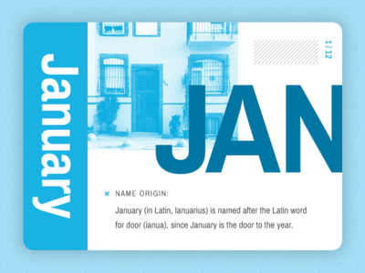 January Month Card series toronto graphic design ui card ui card month january