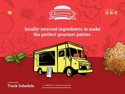 Food truck Landing Page Design
