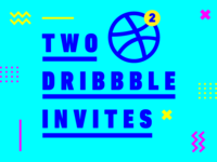 2 Dribbble Invites invite draft 2 invites dribbble