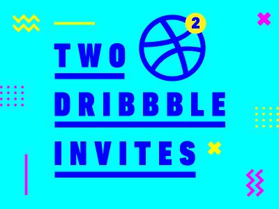 2 Dribbble Invites invite draft 2 invites dribbble