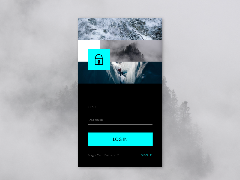 April 2018 – LOG IN UI DESIGN