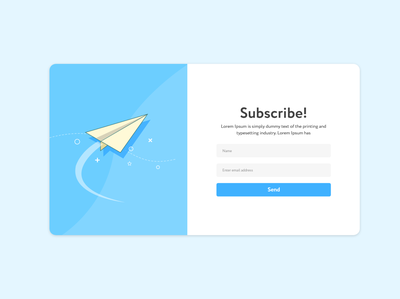 Subscribe Form Design
