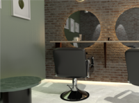 hair salon 3d modeling with Maya