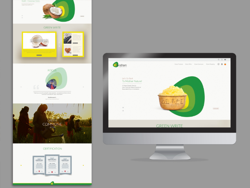 Organic Farm E-commerce Website branding ui website web