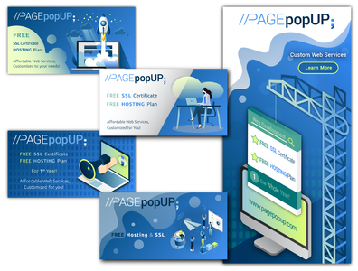Page Pop Up Social Media Advertisements