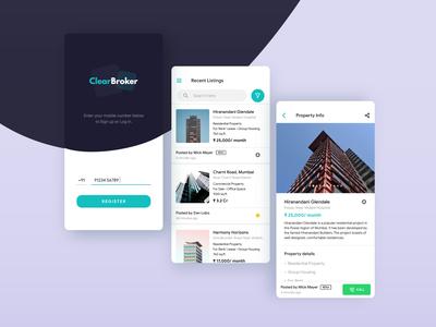 ClearBroker App UI