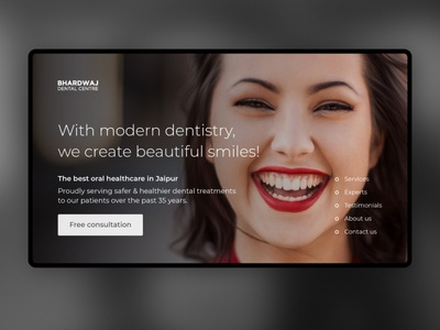 Bhardwaj Dental Centre Website