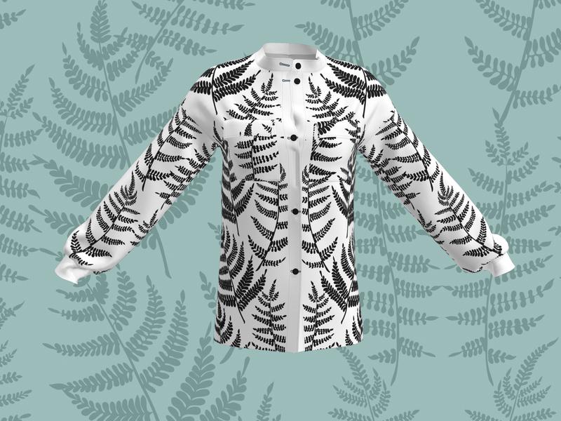 Fern pattern for fashion apparel fabrics fern pattern fashion pattern design textile design textiles