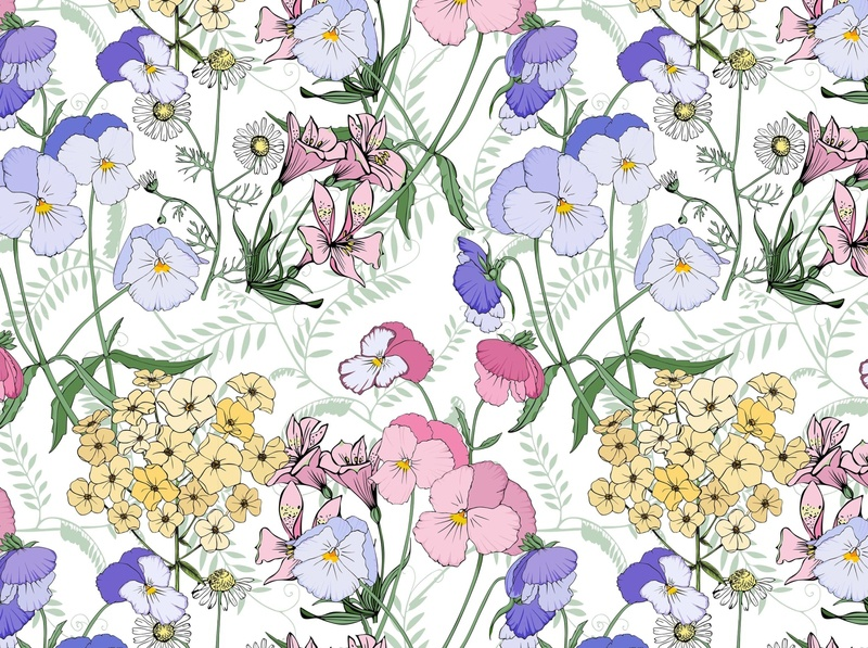 Floral Pattern lily floral flowers fabrics pattern design print botanical fashion pattern textile design