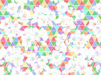 Print for textiles sporty joyful colorful geometry diamonds triangles floral print textile flowers pattern design fabrics fashion textile design pattern