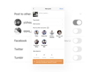 Weird toggle-switch in Instagram instagram