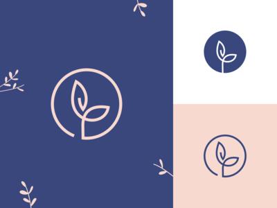 Leaf Logo for Muslimah Stuff Business