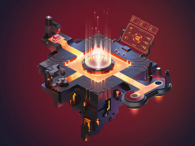 Terraforge.io - 3D floating forge animated natively motiongraphics motion graphics motion graphic motion design animation 3ds max 3dsmax cinema 4d cinema4d motion