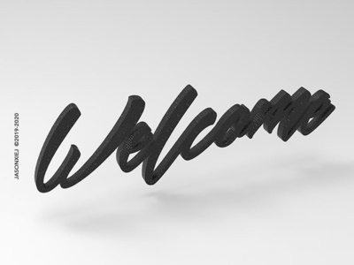 No.1 Welcome illustration c4d