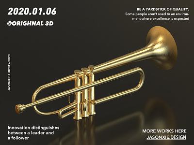 No.6  Trumpet c4d