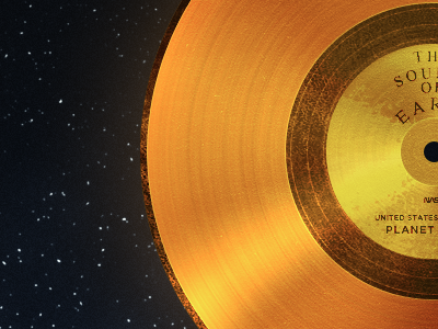 The Sounds of Earth shiny things gold gold. space nasa planet earth