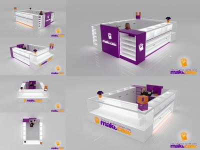 3d model Display for phone case shop