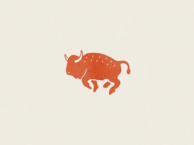 Bison animal yellowstone icon illustration