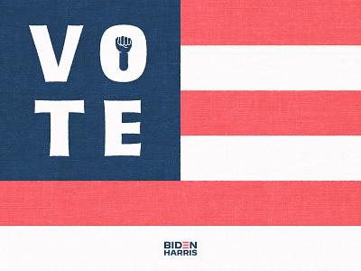 VOTE! politics america flag black power fist kamala harris joe biden 2020 vote 2020 vote campaign elections