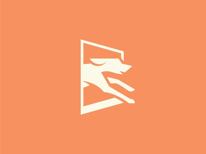 Doggie Door vector branding running paw animal door icon logo dog