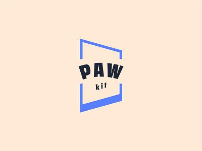 PAW kit cat door animal paw pet dog branding logotype icon logo