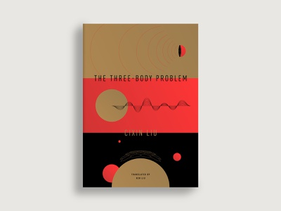 The Three Body Problem book cover book planet spaceship sine wave radio star science fiction sci-fi space