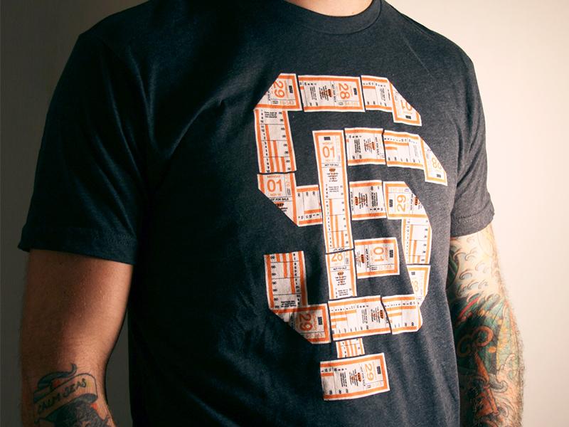 SF Giant's Muni Shirt ticket shirt muni baseball giants sf san francisco