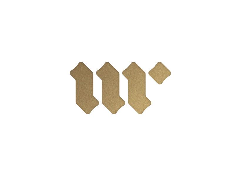m & r mr blackletter logo monogram